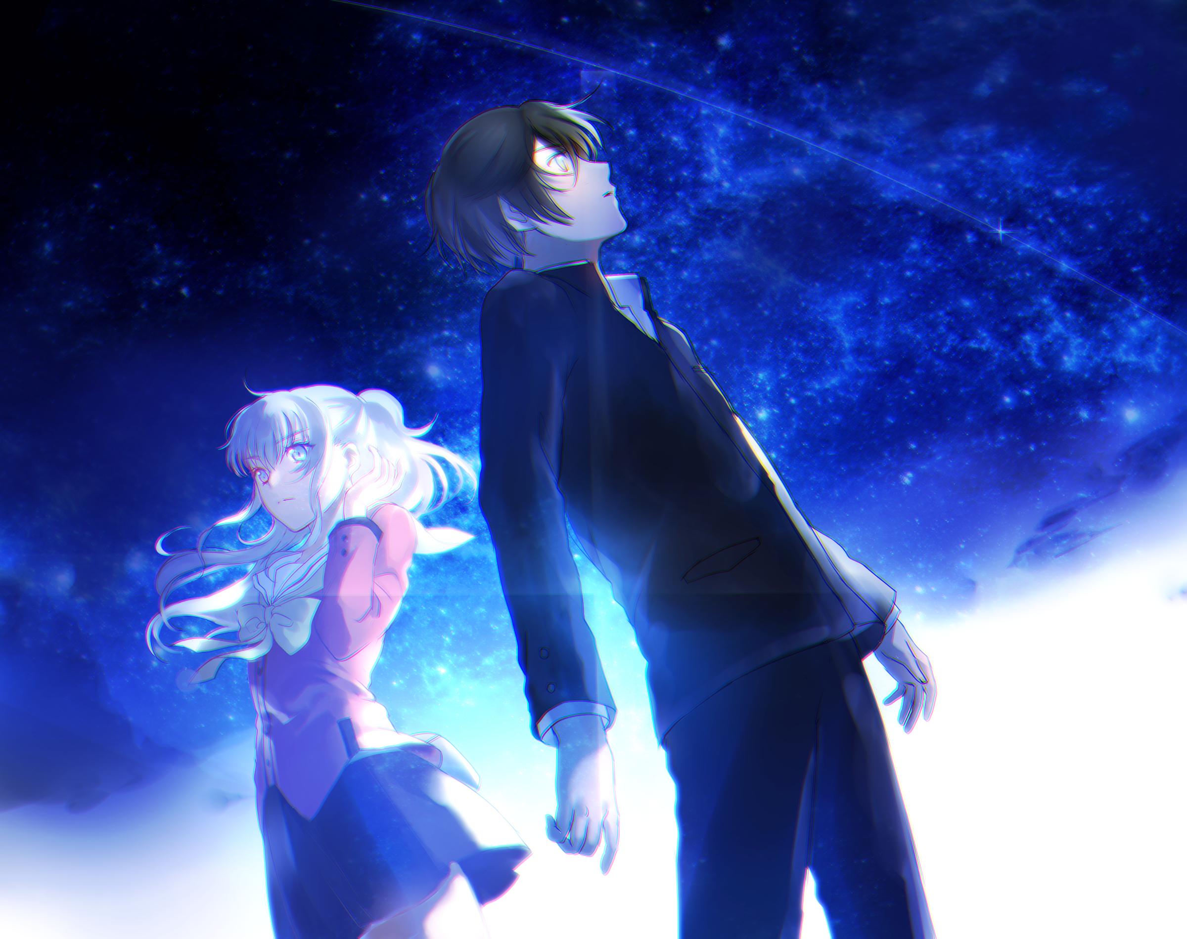 Yū Otosaka and Nao Tomori Together Fondo de pantalla HD