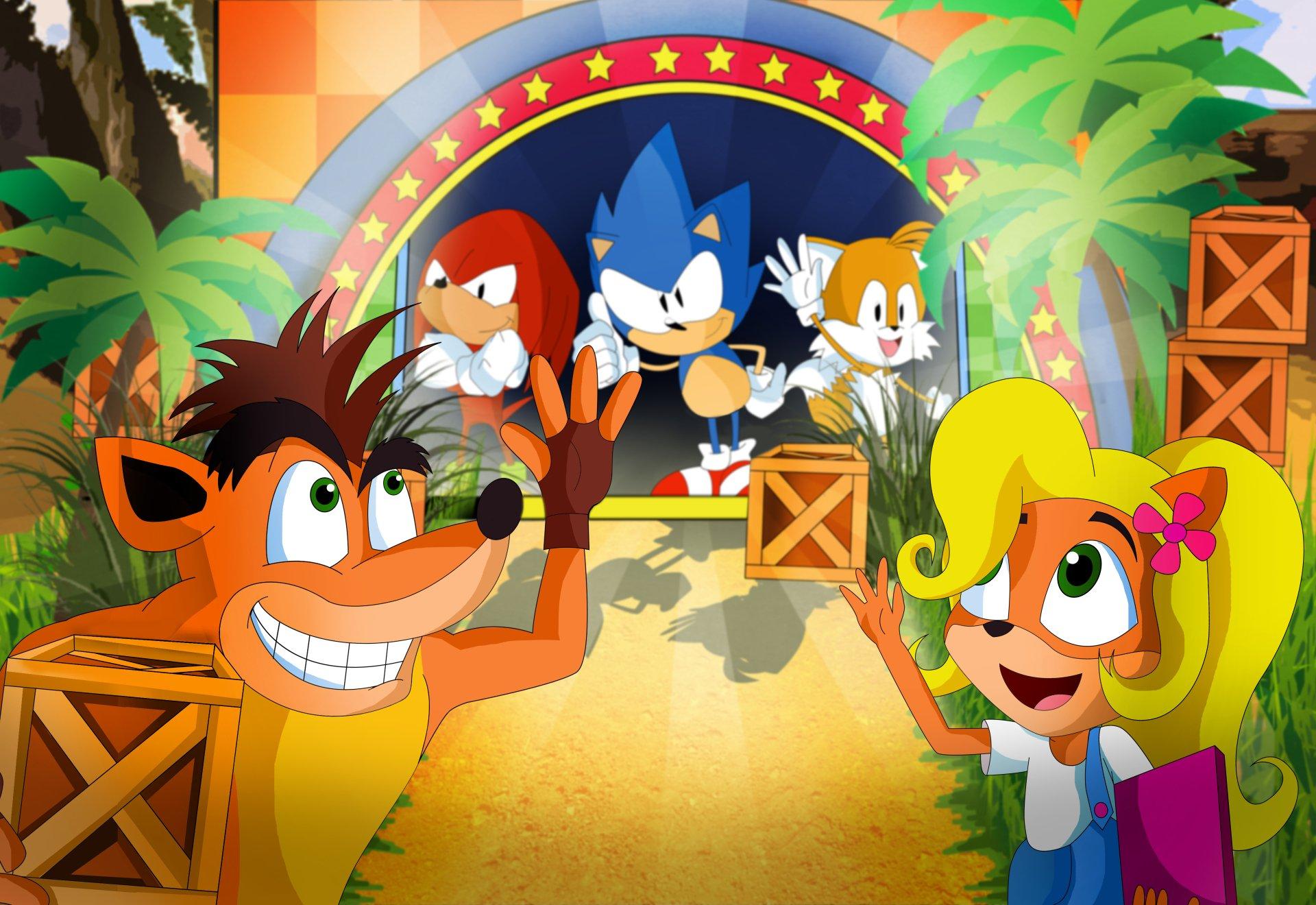 Crash's and Sonic's N. Sane Mania 8k Ultra HD Wallpaper ...