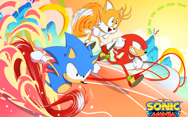 """Video Game Sonic Mania Sonic Sonic the Hedgehog Knuckles the Echidna Miles """"Tails"""" Prower Classic Knuckles Classic Tails Classic Sonic HD Wallpaper 