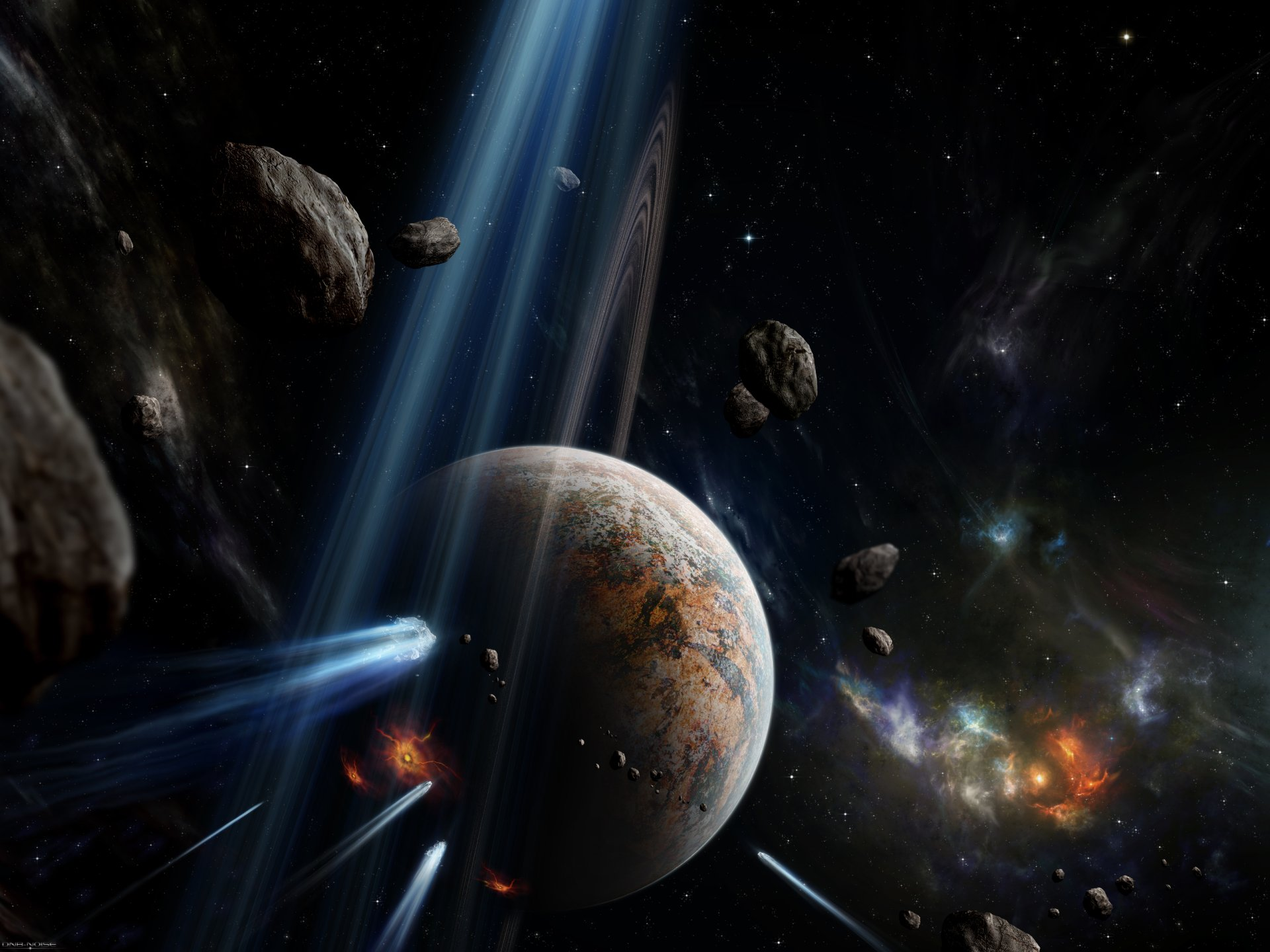 Sci Fi - Planet  Sci Fi Space Asteroid Meteor Wallpaper