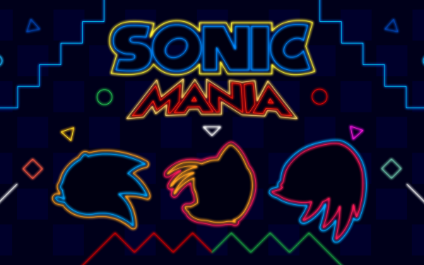 """Video Game Sonic Mania Sonic Sonic the Hedgehog Knuckles the Echidna Neon Miles """"Tails"""" Prower HD Wallpaper 