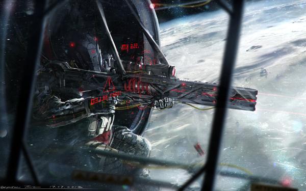 Sci Fi Robot Space Gun HD Wallpaper | Background Image