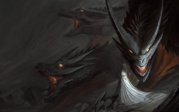 TV Show Game Of Thrones Dragon Daenerys Targaryen White Dress HD Wallpaper   Background Image