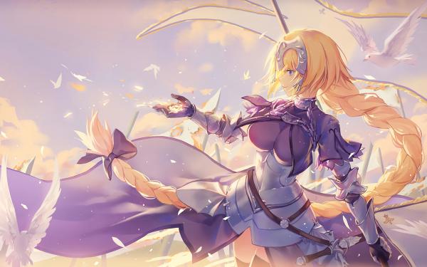 Anime Fate/Grand Order Fate Series Ruler Long Hair Blonde Braid Bird Chain Jeanne d'Arc HD Wallpaper   Background Image