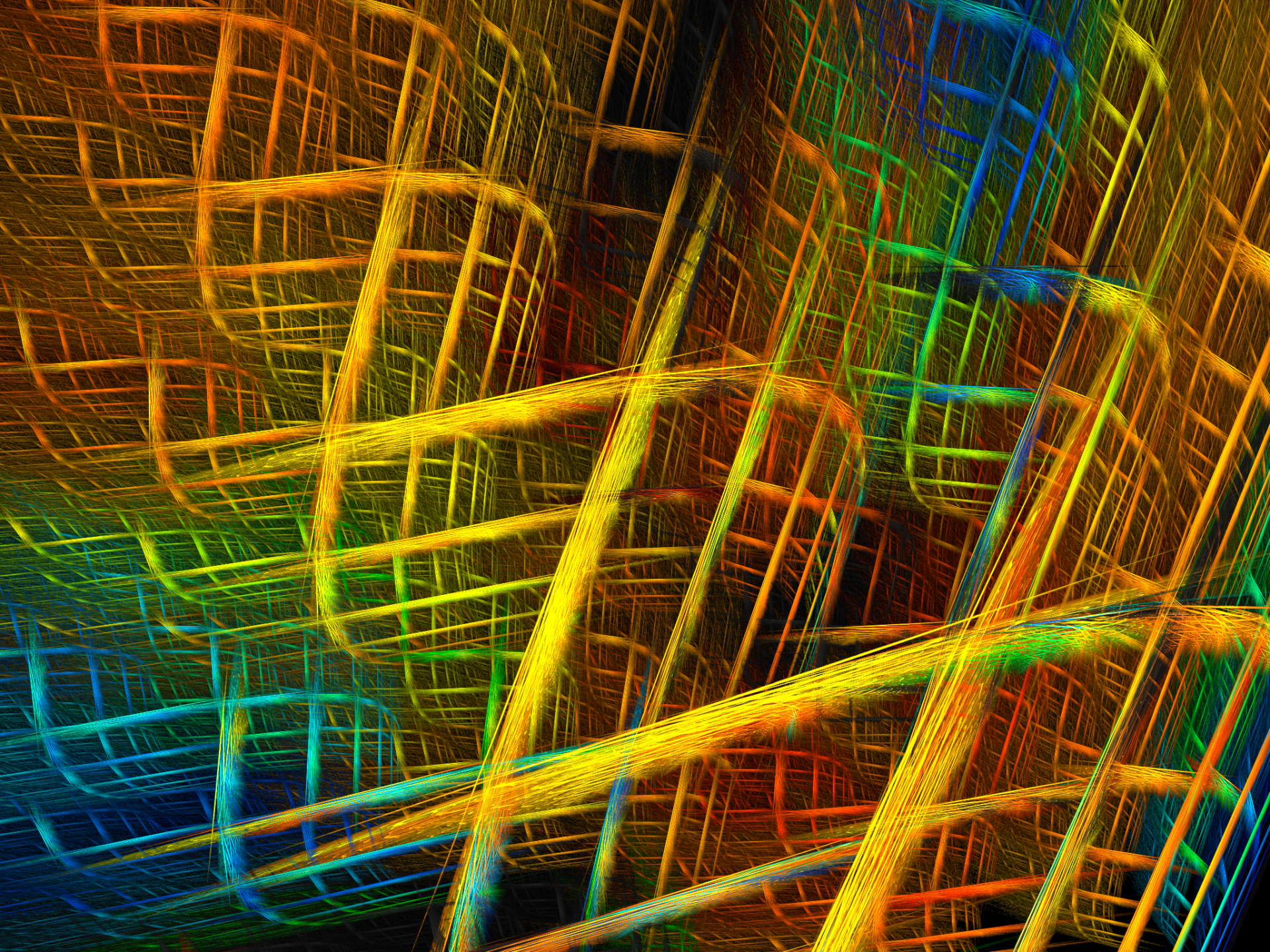 Abstract - Fractal  Digital Abstract Apophysis (software) Colorful Lines Digital Art Artistic Wallpaper