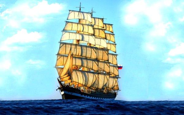 Vehicles Sailing Ship Ship Sail Sailboat HD Wallpaper | Background Image