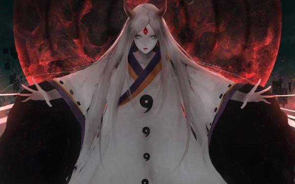 Anime Naruto Kaguya Ōtsutsuki Chica Long Hair White Hair Fondo de pantalla HD   Fondo de Escritorio