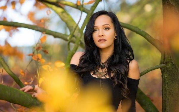 Women Model Models Brunette Depth Of Field Hazel Eyes HD Wallpaper | Background Image