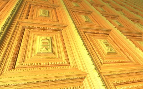 Abstract Fractal Frame Mandelbulber 3D Geometry Shapes Square HD Wallpaper | Background Image
