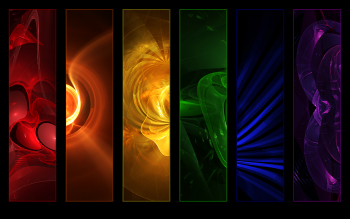 Abstract Cool Colors Red Orange Yellow Green Blue Purple HD Wallpaper | Background Image