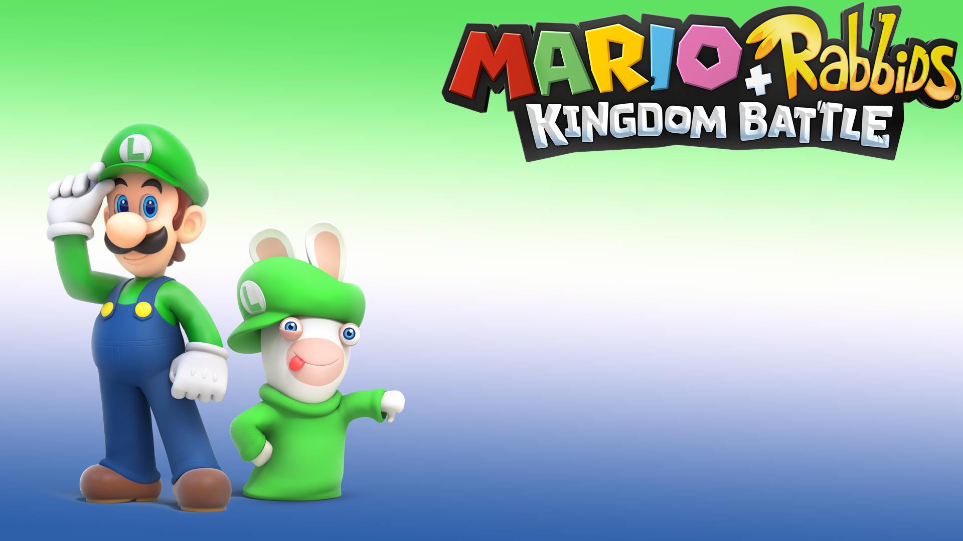 Mario Rabbids Kingdom Battle Luigi Rabbid Luigi Wallpaper Hd