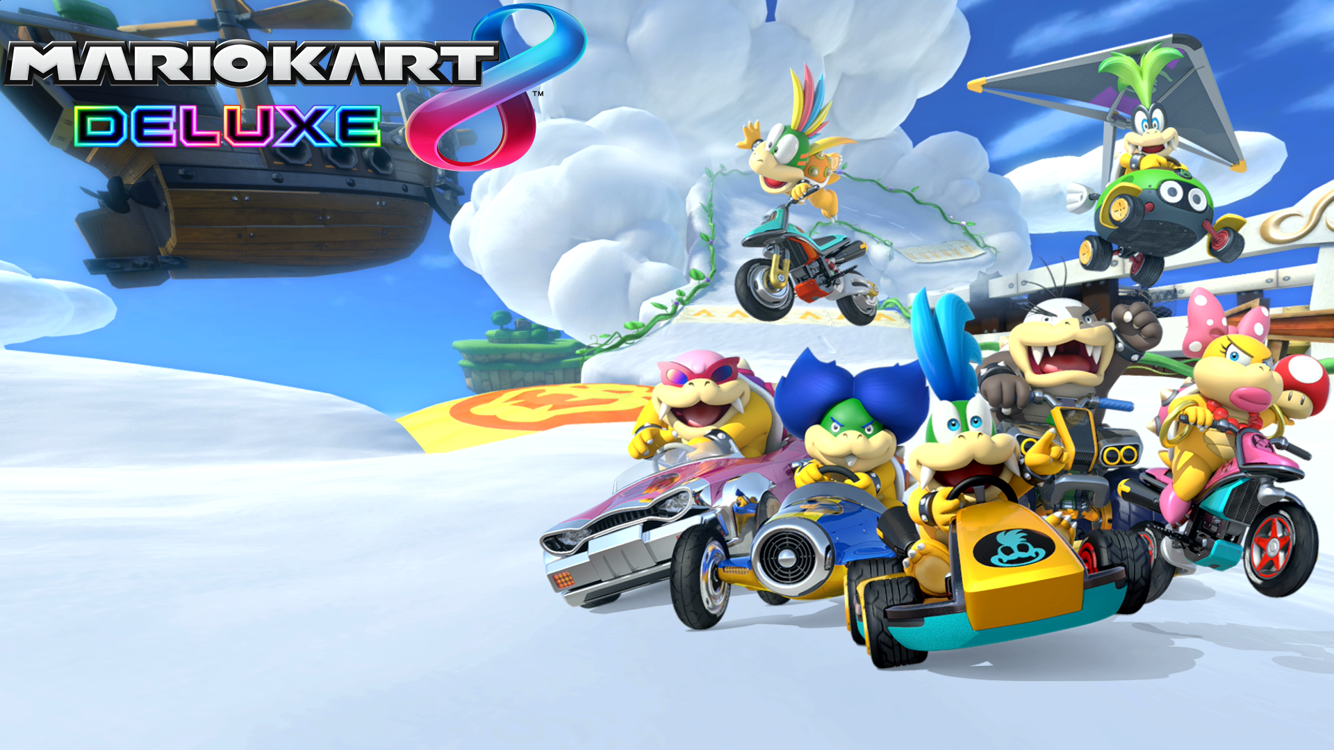 Mario Kart 8 Background: Mario Kart 8 Deluxe Koopalings Wallpaper HD Wallpaper