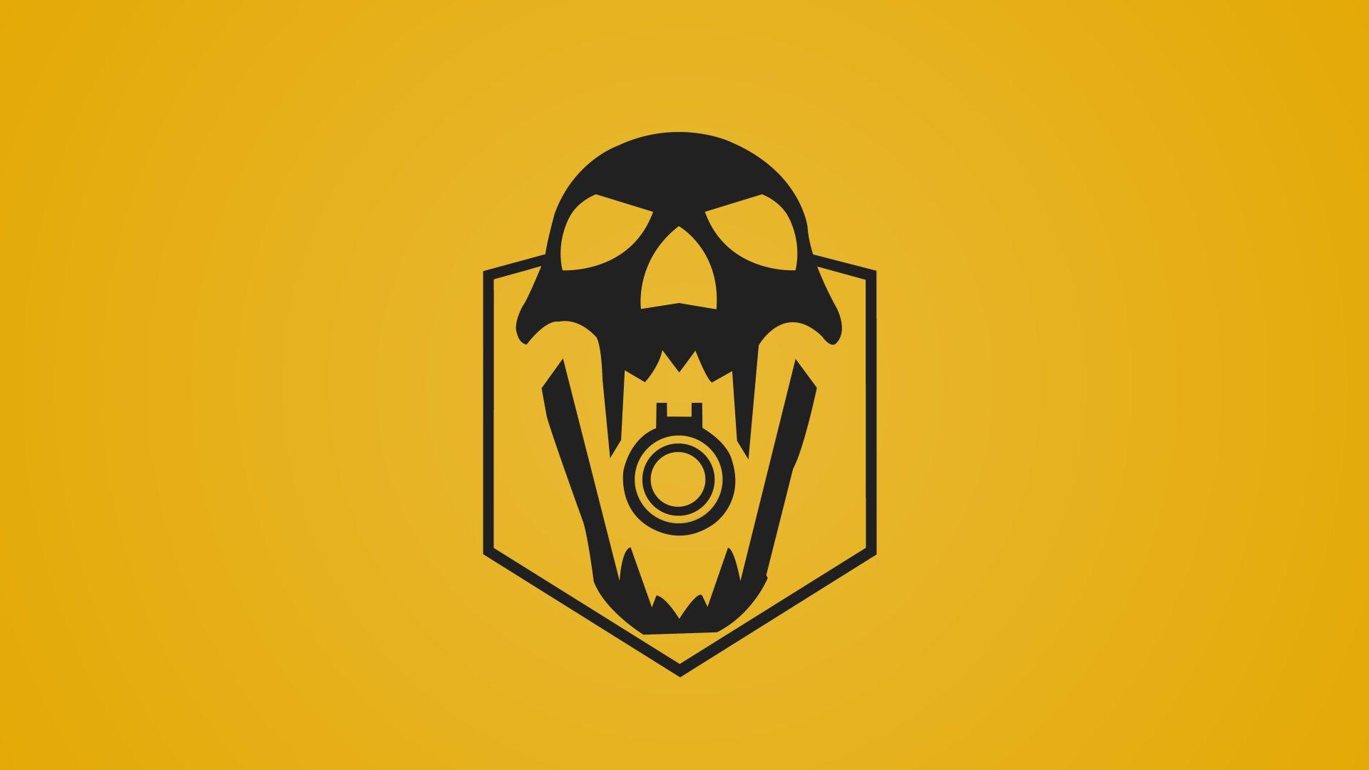 Video Game - Tom Clancy's Rainbow Six: Siege  Blackbeard (Tom Clancy's Rainbow Six: Siege) Yellow Operation Dust Line Skull Minimalist Wallpaper