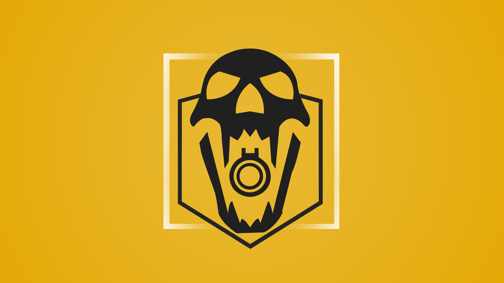 Video Game - Tom Clancy's Rainbow Six: Siege  Blackbeard (Tom Clancy's Rainbow Six: Siege) Yellow Skull Minimalist Wallpaper