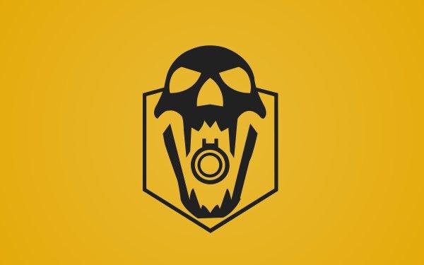 Video Game Tom Clancy's Rainbow Six: Siege Blackbeard Yellow Operation Dust Line Skull Minimalist HD Wallpaper   Background Image