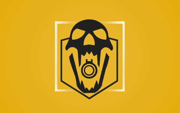 Video Game Tom Clancy's Rainbow Six: Siege Blackbeard Yellow Skull Minimalist HD Wallpaper   Background Image