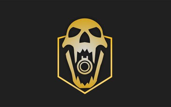 Video Game Tom Clancy's Rainbow Six: Siege Blackbeard Minimalist Skull Operation Dust Line Yellow HD Wallpaper   Background Image