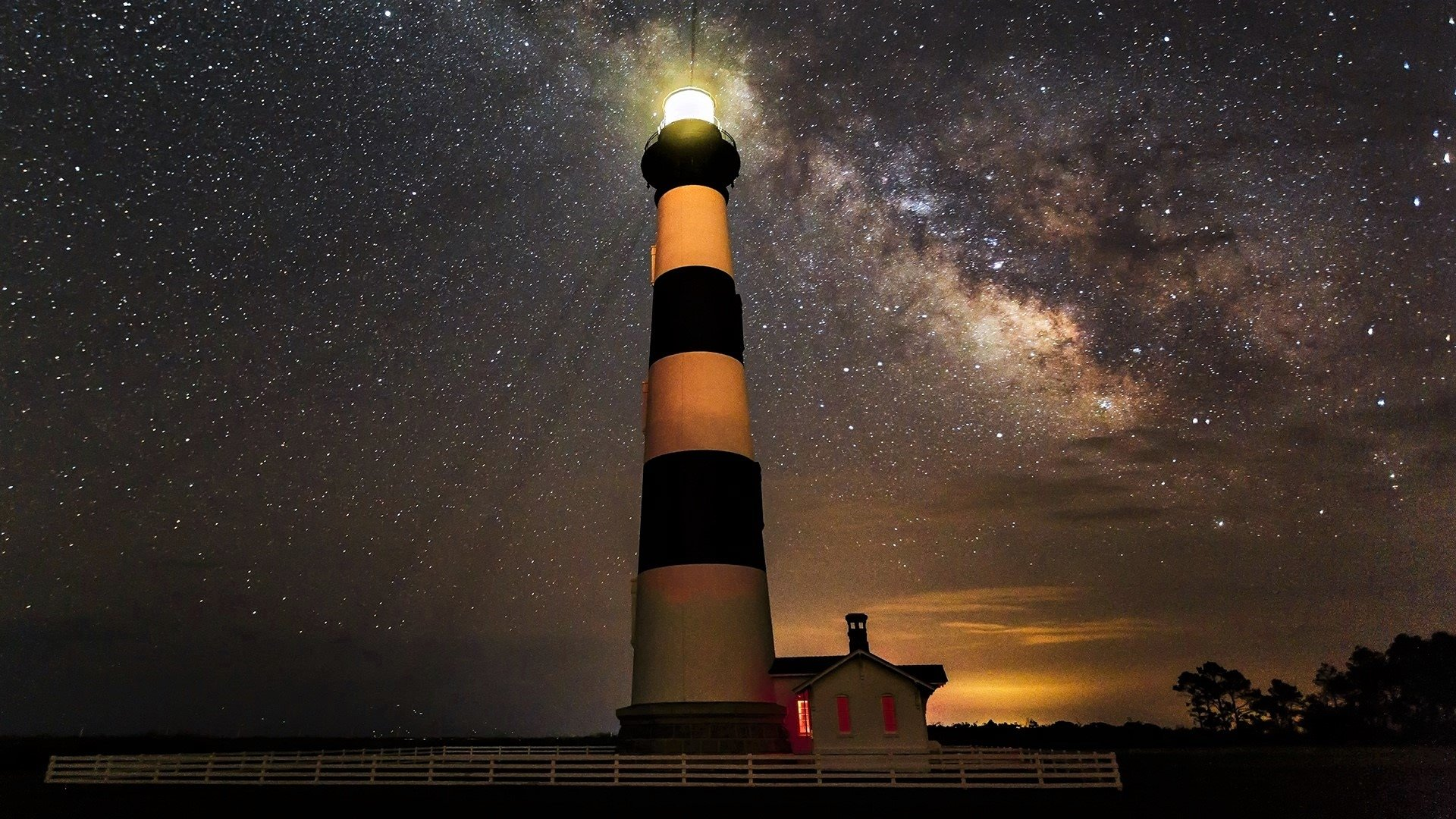Bodie Lighthouse In North Carolina Full Hd Wallpaper And