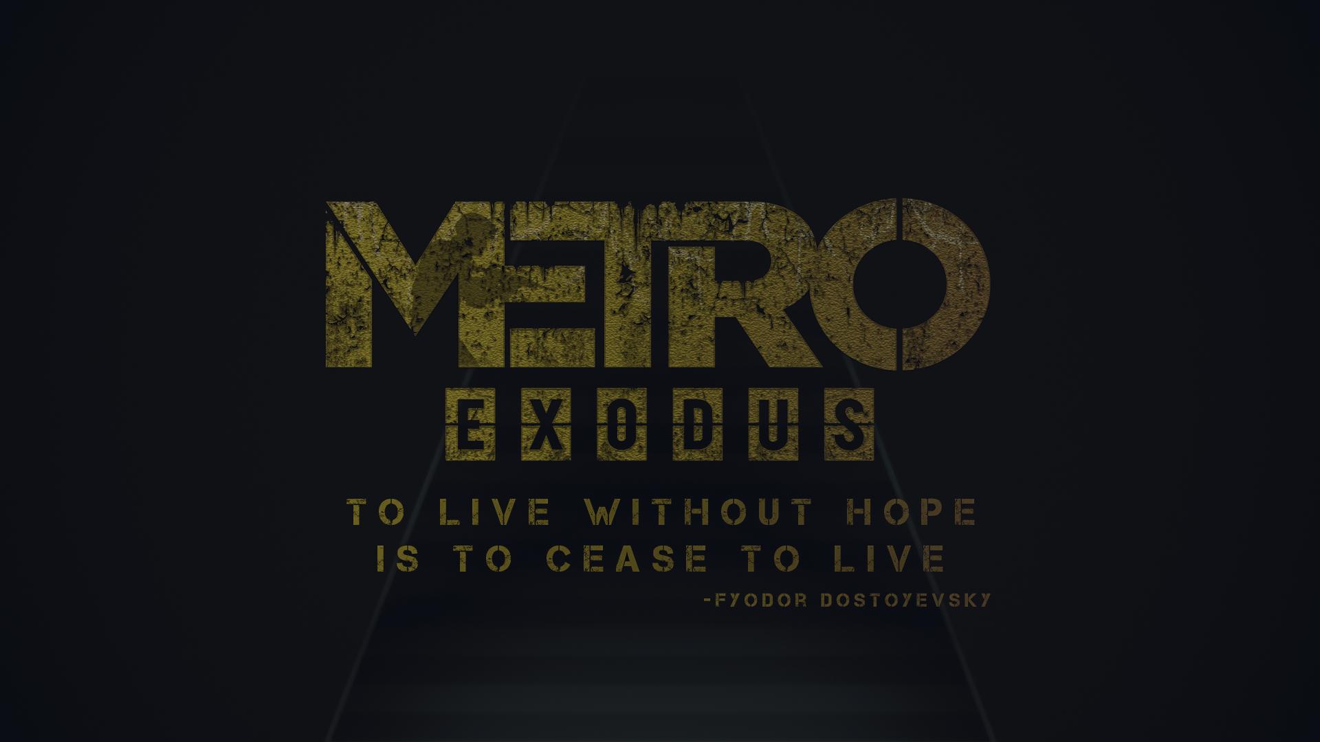 Video Game - Metro Exodus  Wallpaper