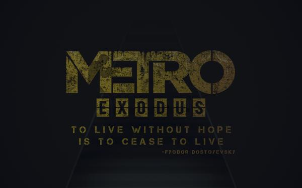 Video Game Metro Exodus Metro HD Wallpaper | Background Image
