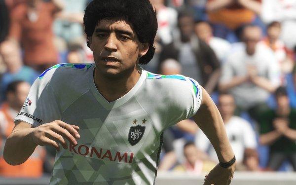 Video Game Pro Evolution Soccer 2018 Diego Maradona Football HD Wallpaper | Background Image