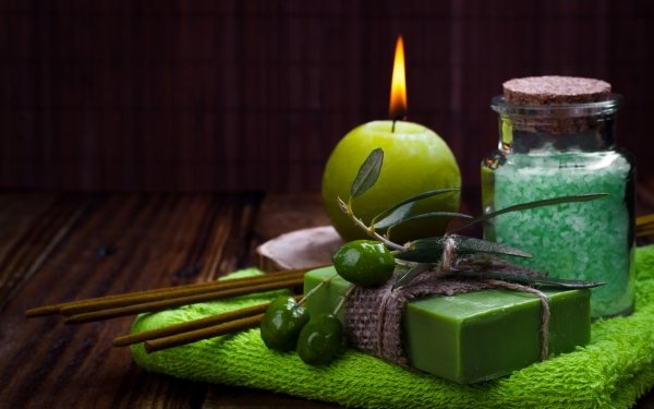 Man Made Spa Soap Still Life Candle HD Wallpaper | Background Image