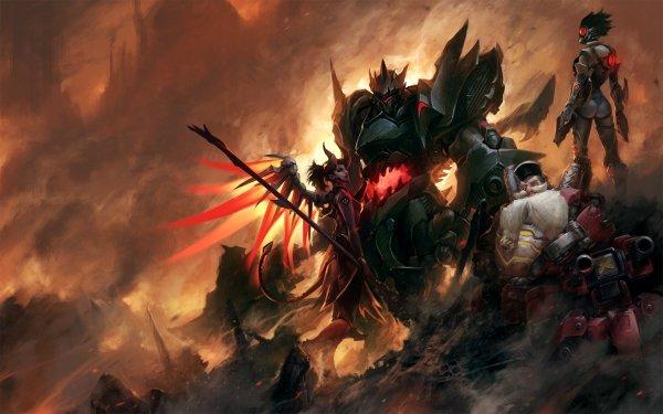 Video Game Overwatch Tracer Torbjörn Reinhardt Mercy HD Wallpaper | Background Image
