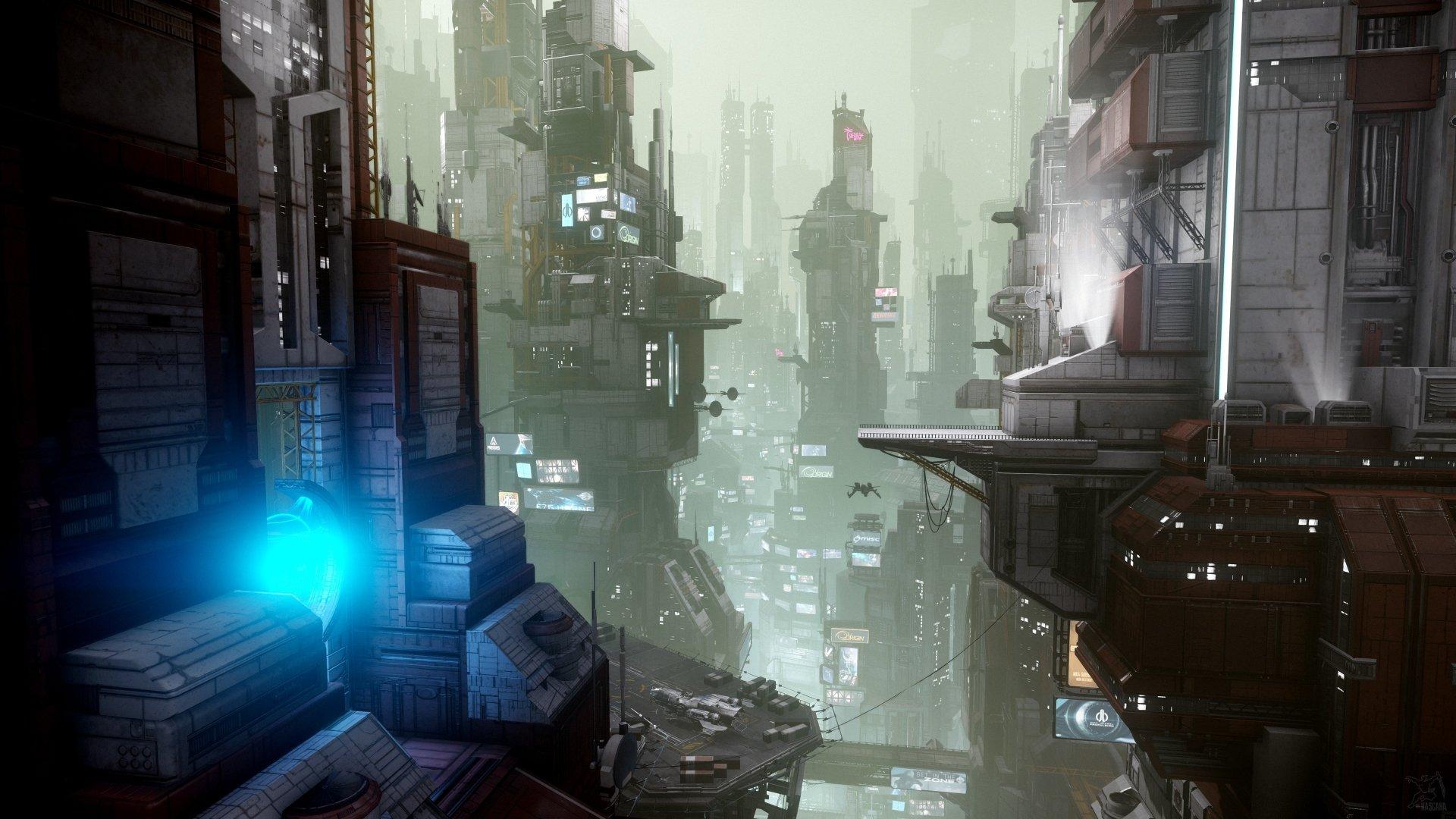 Video Game - Star Citizen  City Futuristic Building Skyscraper Wallpaper