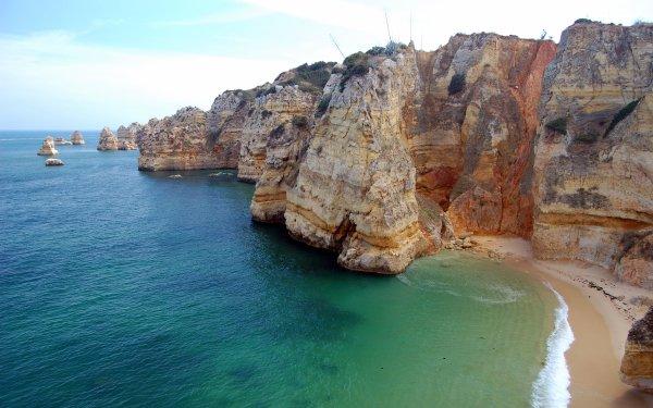 Earth Ocean Sea Coastline Coast Cliff Rock HD Wallpaper | Background Image
