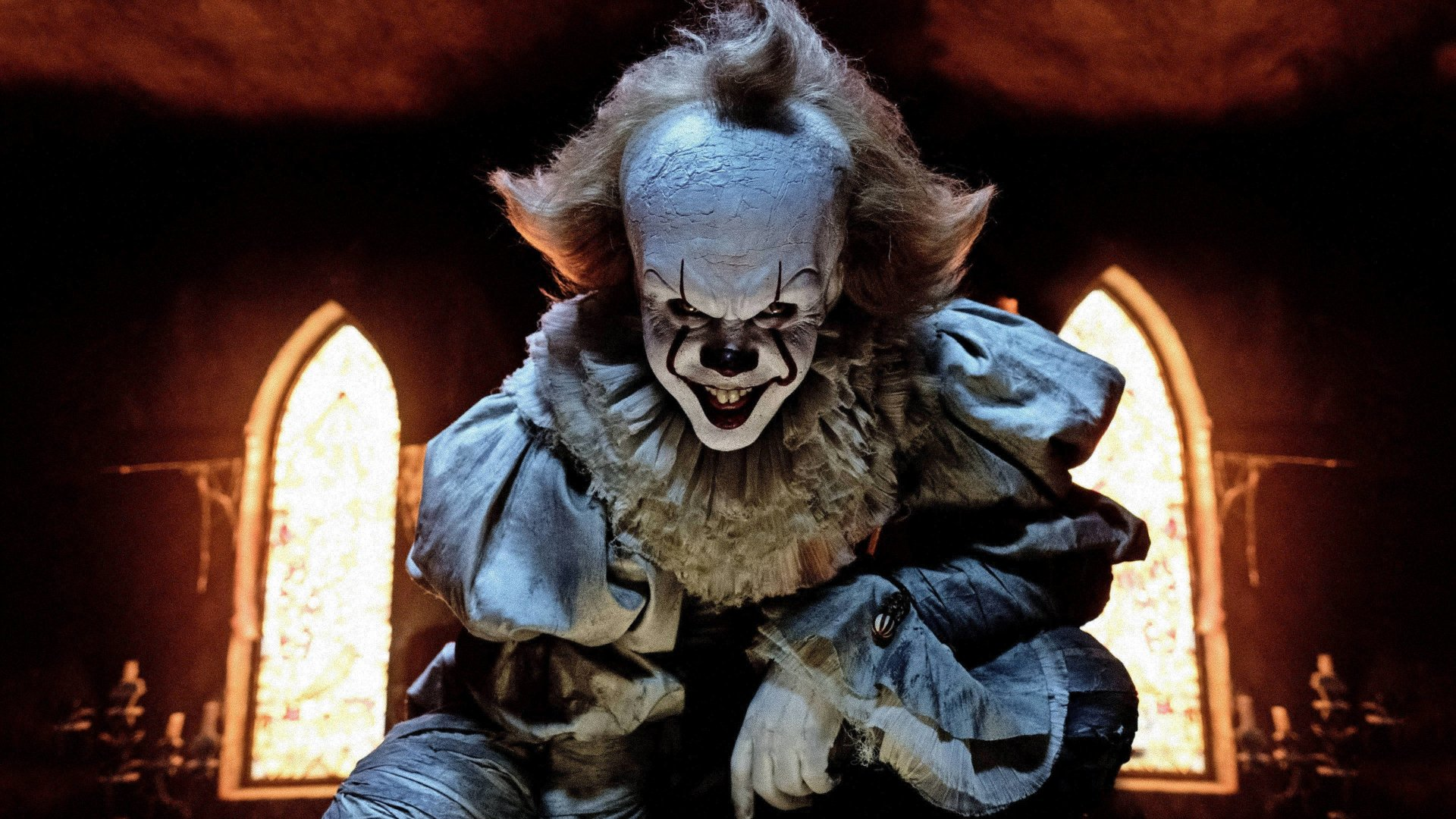 Movie - It (2017)  Pennywise (It) Clown Scary Wallpaper