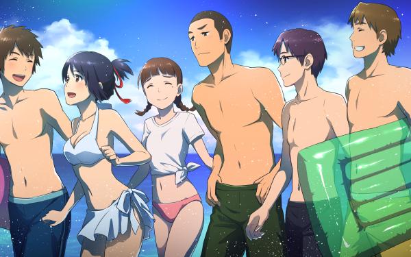 Anime Your Name. Tsukasa Fujii Mitsuha Miyamizu Sayaka Natori Taki Tachibana Shinta Takagi Katsuhiko Teshigawara HD Wallpaper | Background Image