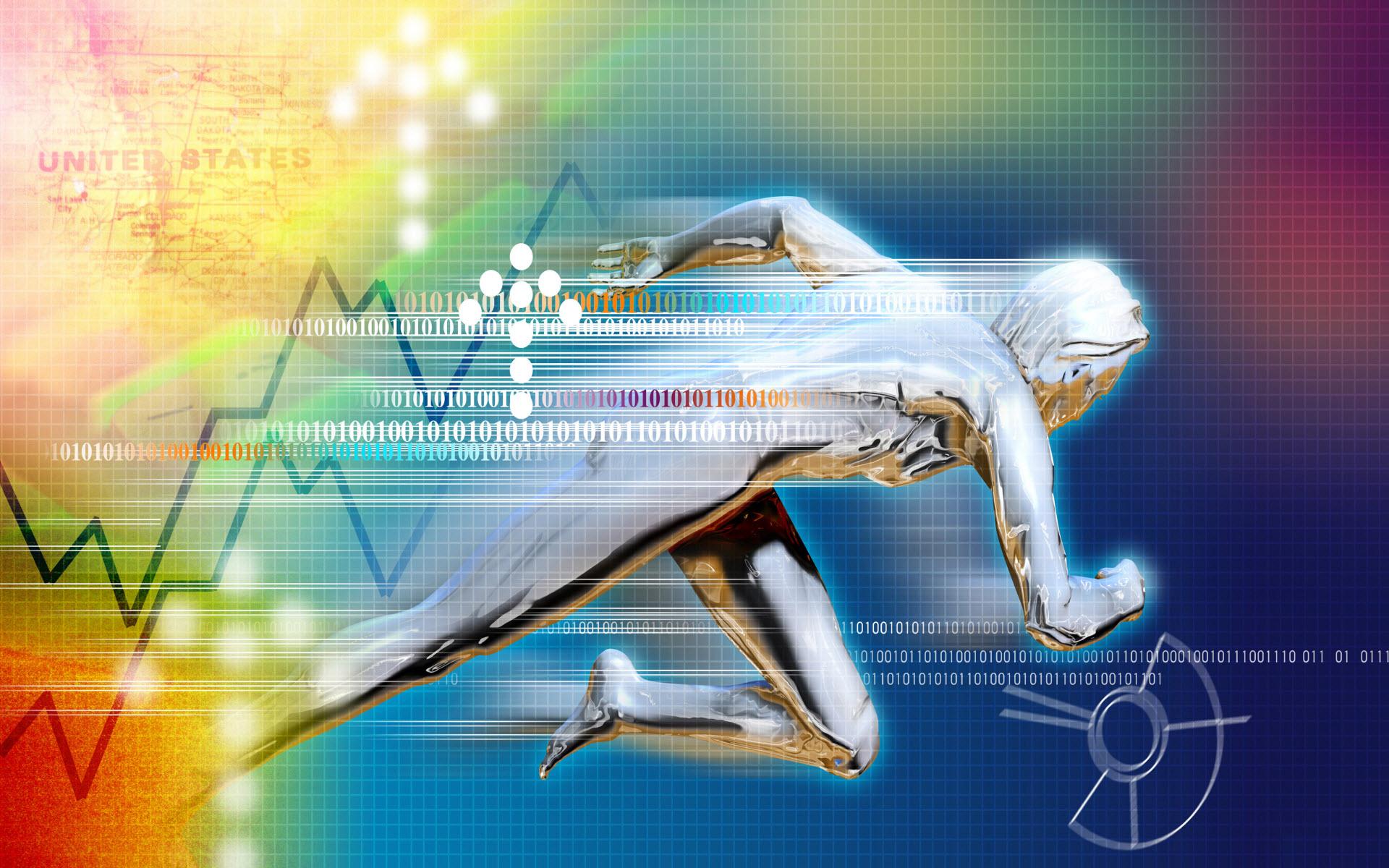 Teknologi - Binary  - Stocks Bakgrund