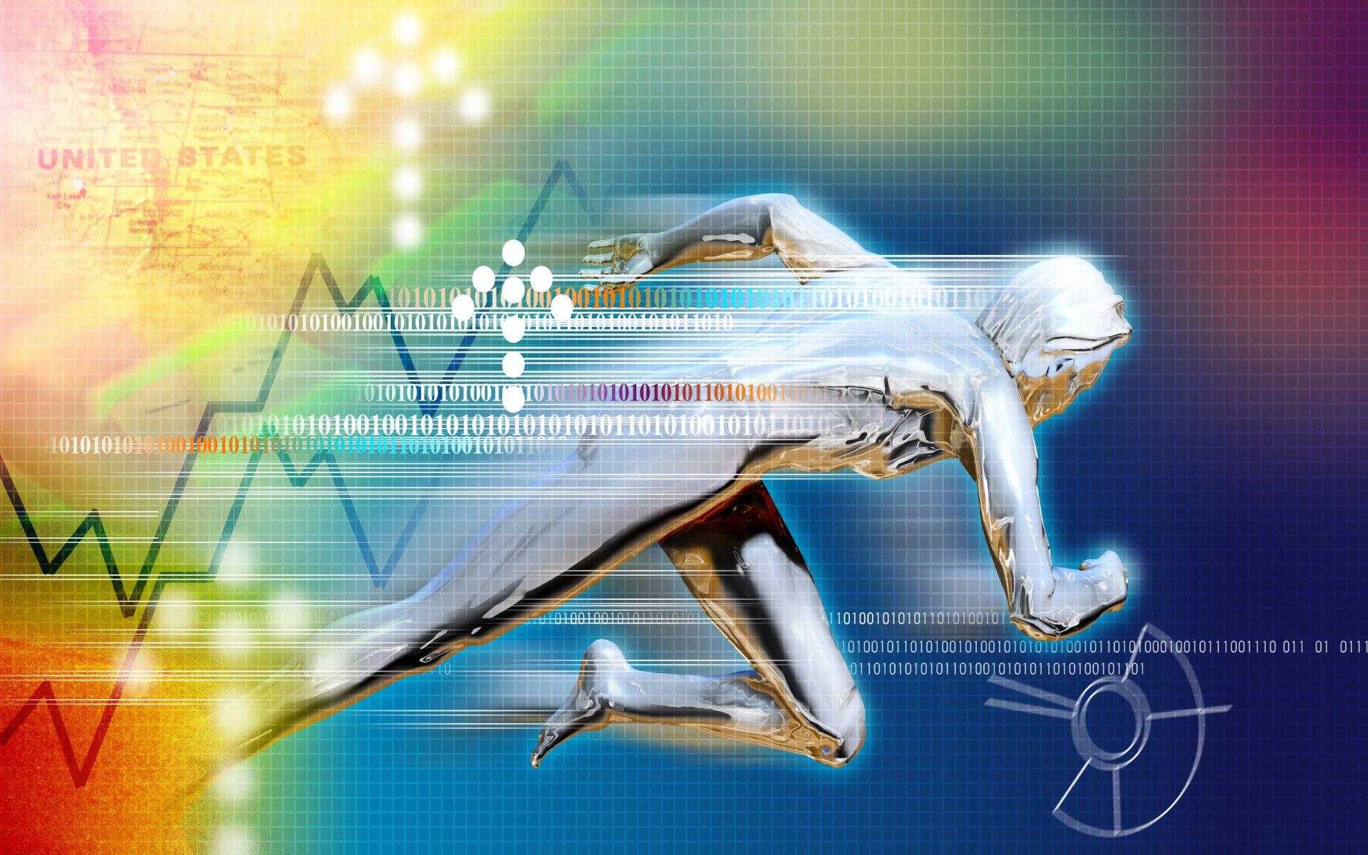 Technology - Binary  Stocks Bakgrund