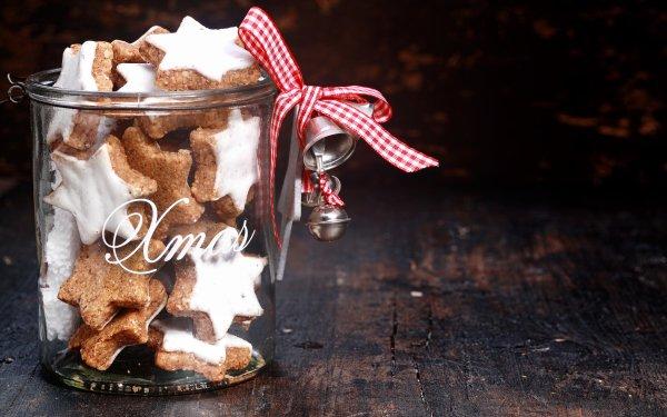 Food Cookie Jar Christmas Star HD Wallpaper | Background Image