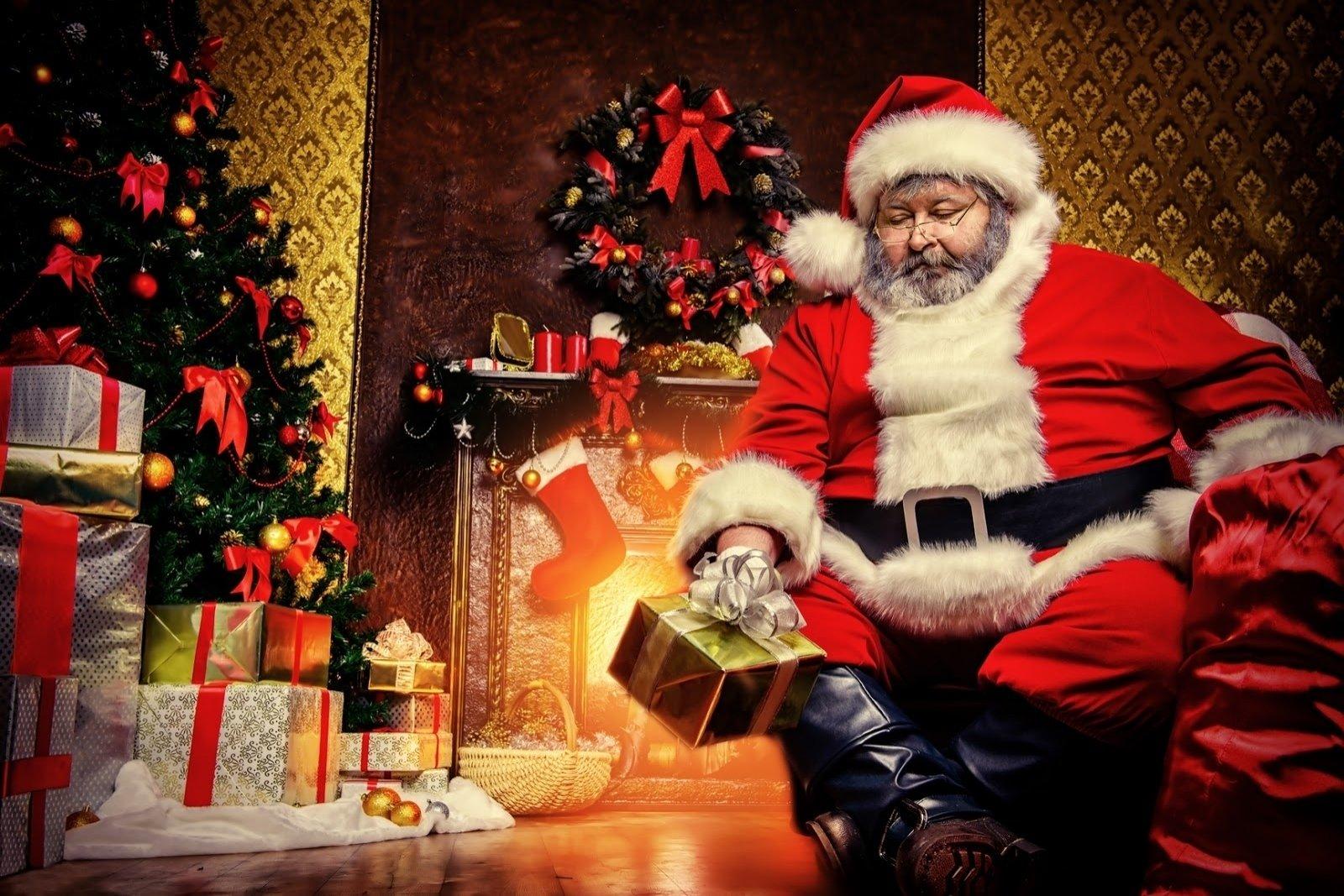 节日 - 圣诞节  Santa Claus 礼物 Christmas Tree 壁纸