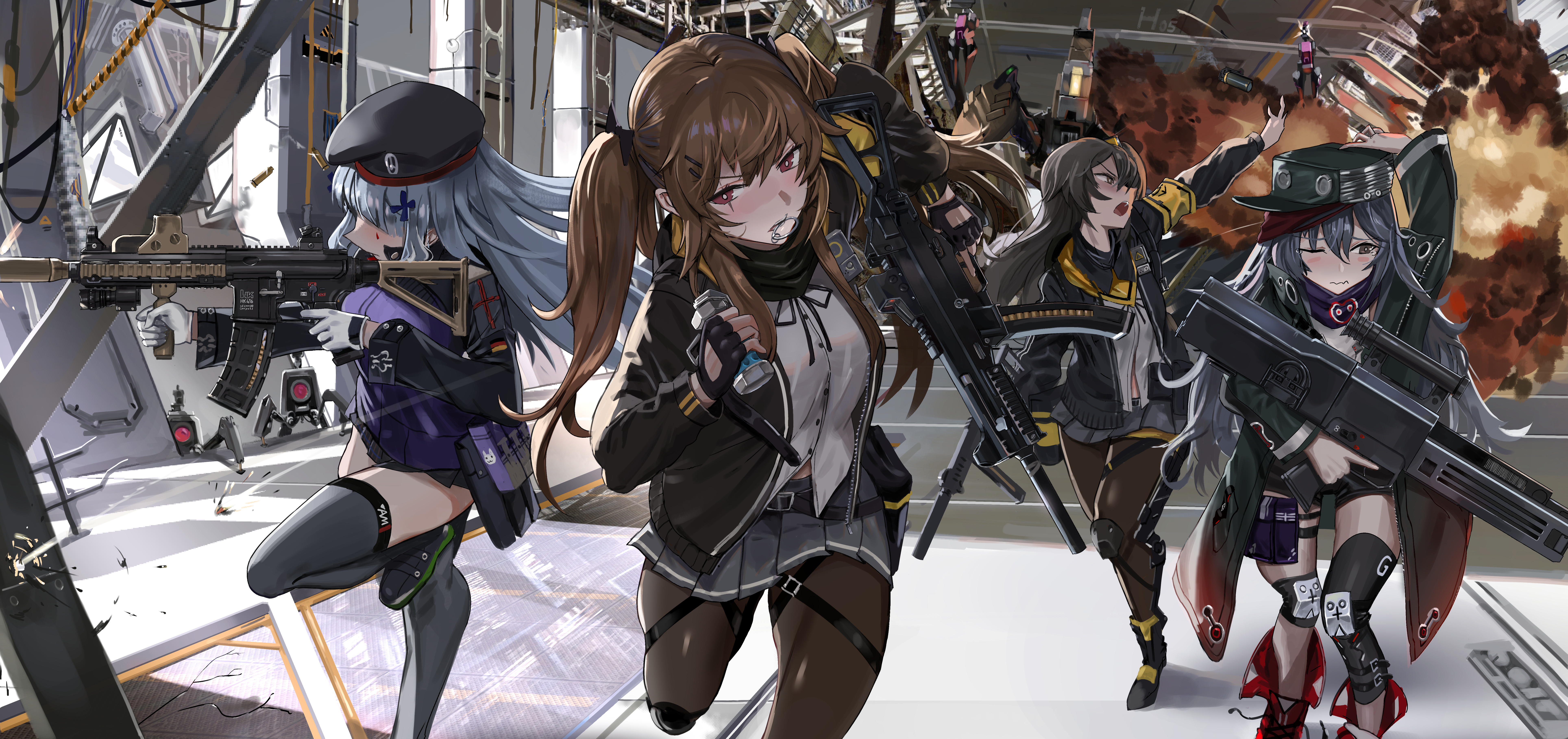 52 Hk416 Girls Frontline Hd Wallpapers Background Images