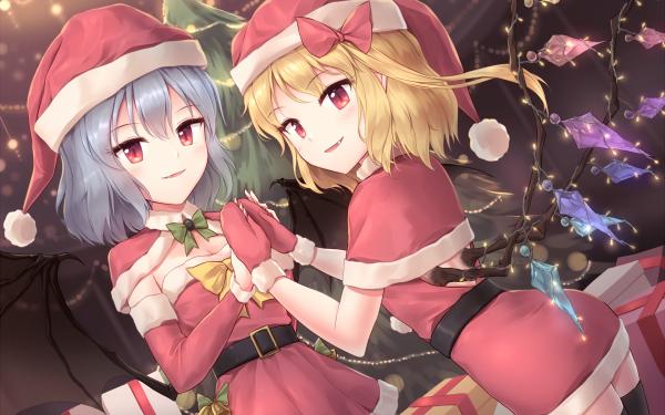 Anime Touhou Flandre Scarlet Remilia Scarlet HD Wallpaper | Background Image