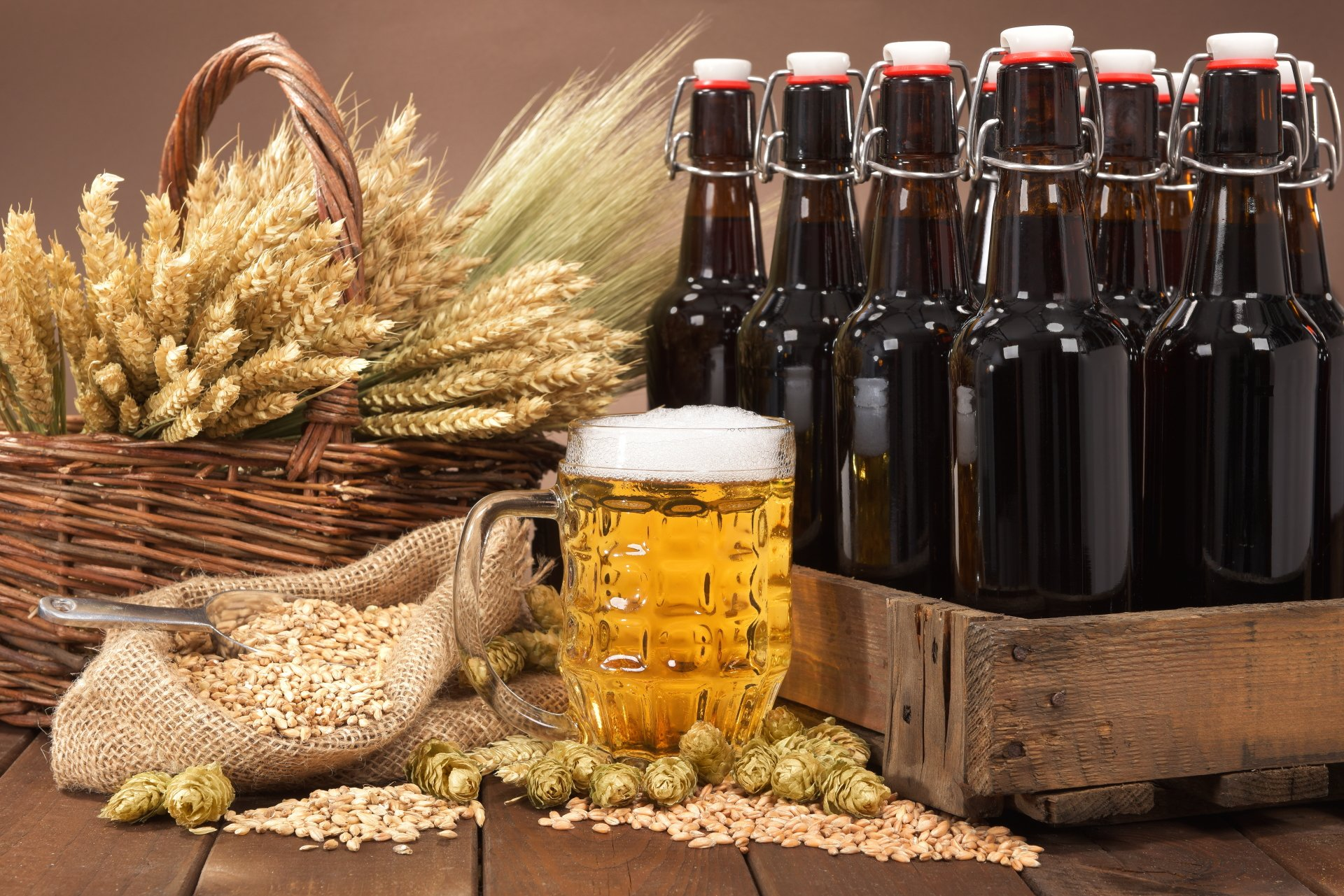 Food - Beer  Drink Alcohol Bottle Still Life Glass Wallpaper