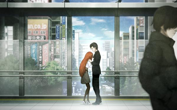Anime Steins;Gate Rintaro Okabe Kagari Shiina HD Wallpaper | Background Image