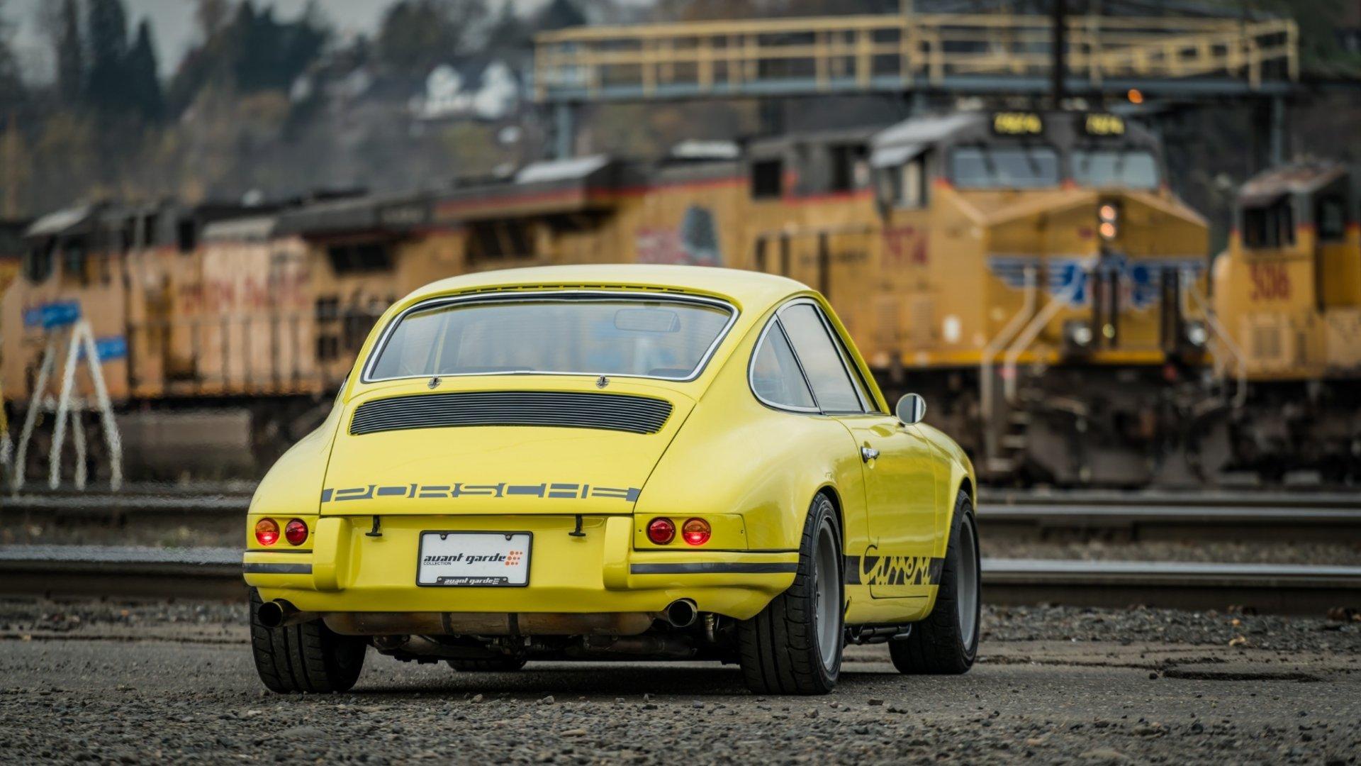 Vehicles - Porsche 911 Carrera T  Sport Car Yellow Car Old Car Car Train Wallpaper