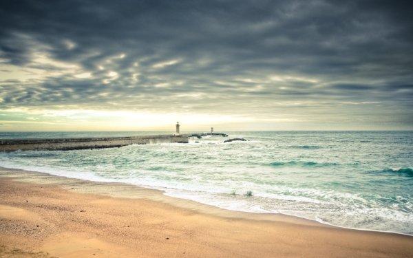 Earth Beach Landscape Scenic Ocean Sea Cloud Shore Coastline Lighthouse HD Wallpaper | Background Image