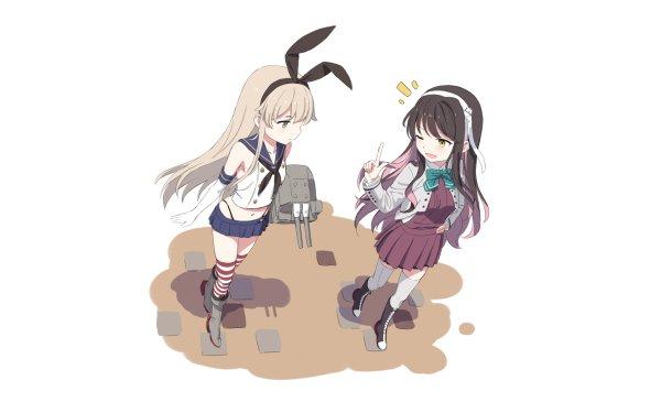 Anime Kantai Collection Shimakaze Naganami HD Wallpaper   Background Image