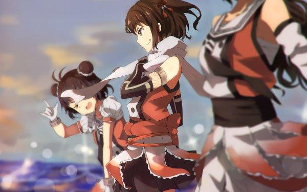 Anime Kantai Collection Jintsuu Naka Sendai HD Wallpaper   Background Image