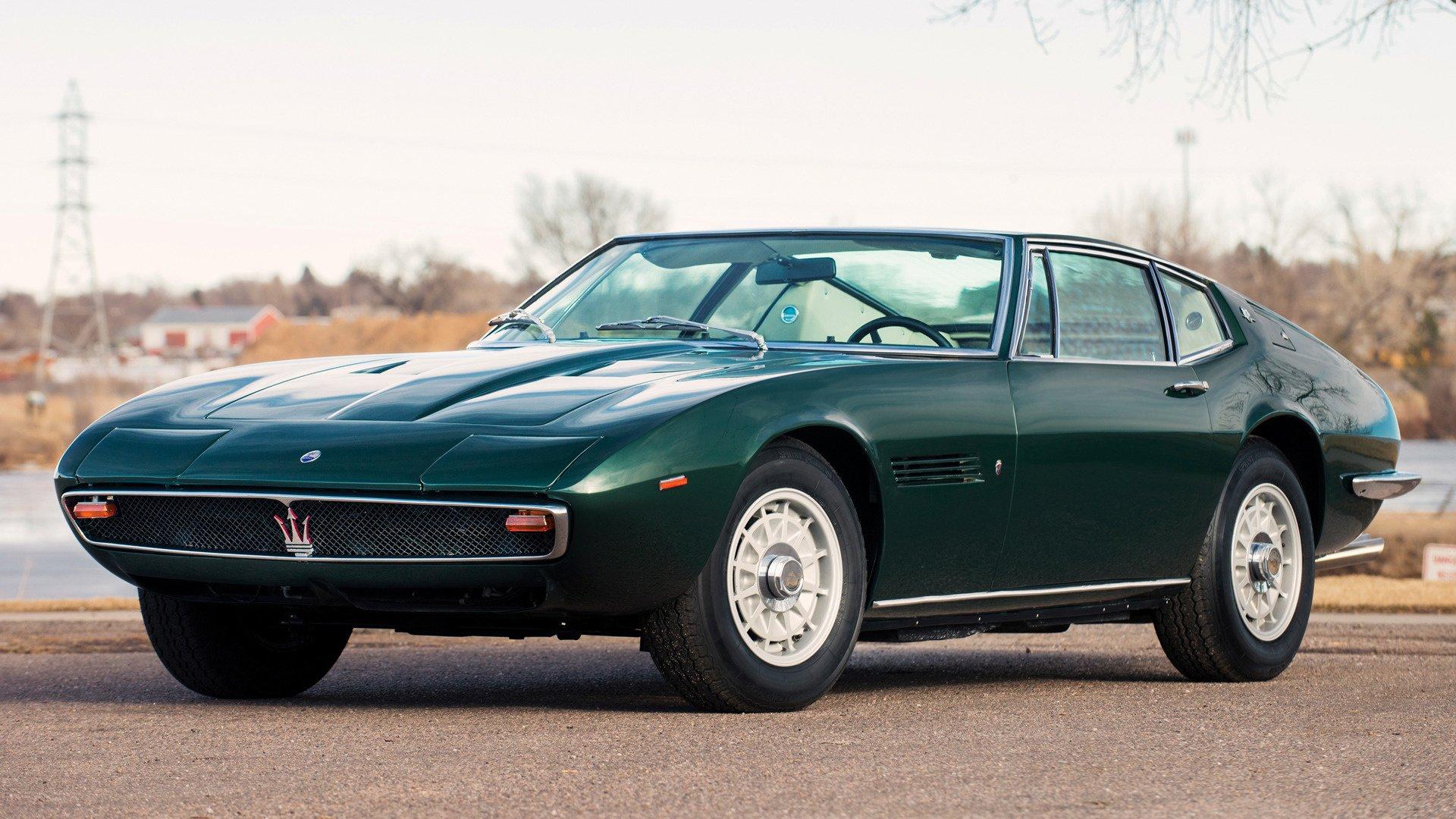 Vehicles - Maserati Ghibli  Sport Car Grand Tourer Green Car Old Car Car Hideaway Headlights Wallpaper