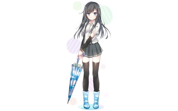 Anime Kantai Collection Asashio Black Hair HD Wallpaper | Background Image