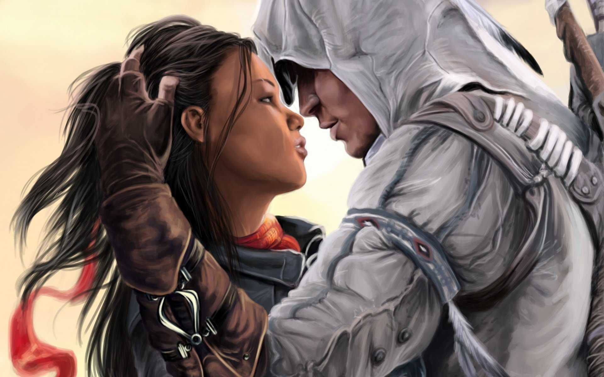 Video Game - Assassin's Creed  Connor (Assassin's Creed) Aveline de Grandpré Girl Couple Love Wallpaper