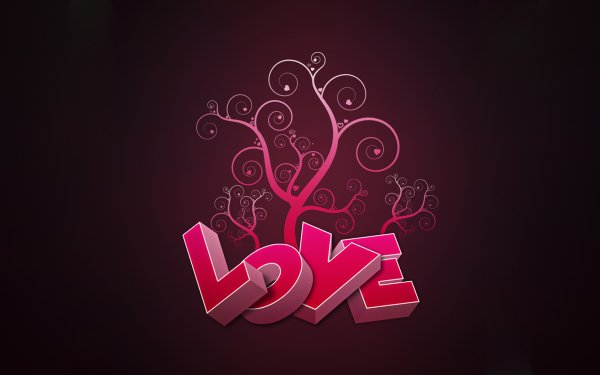 Artistic Love Typography HD Wallpaper | Background Image