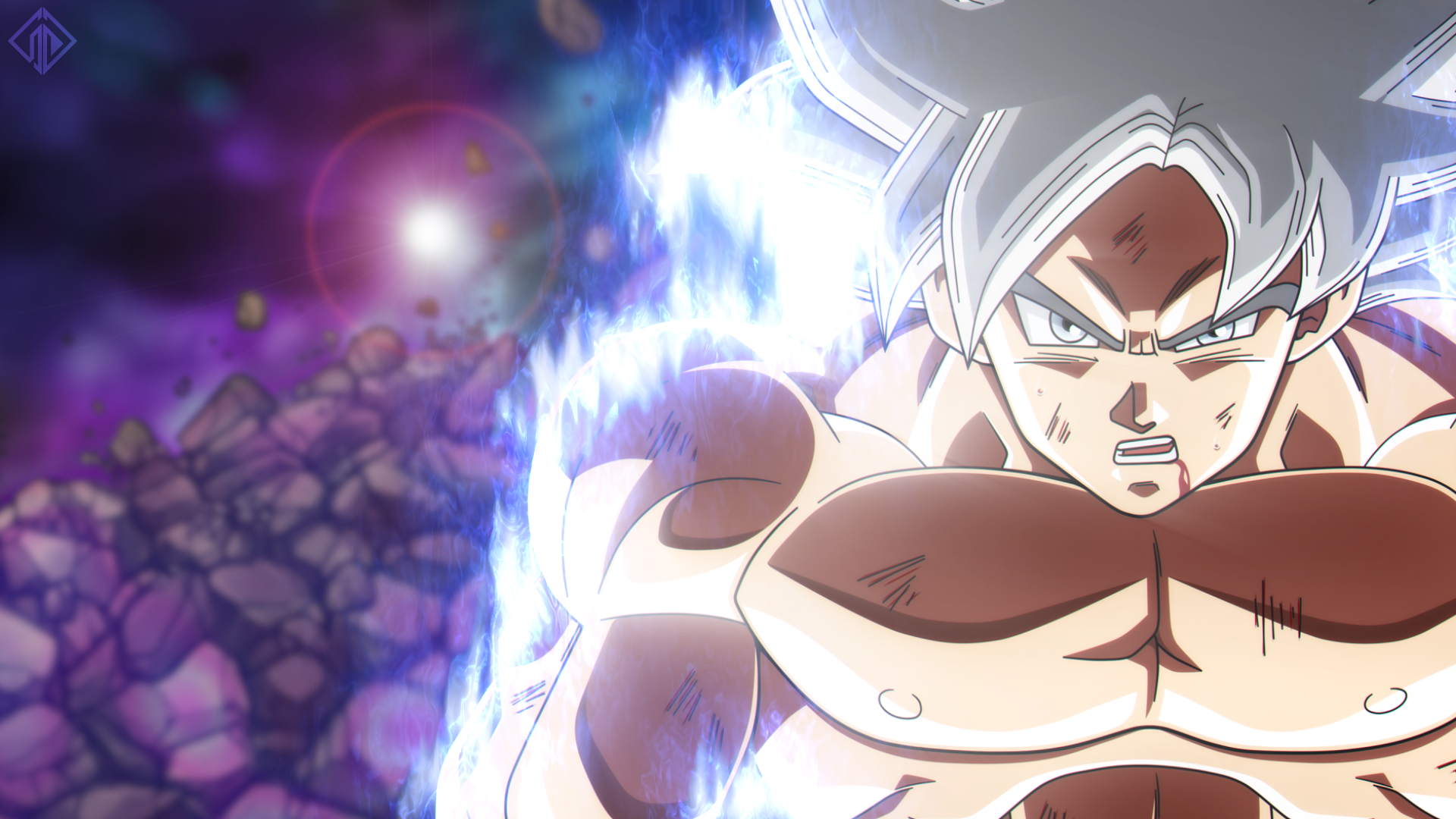 Goku Super Saiyan Silver Form Mastered UI HD Wallpaper ...