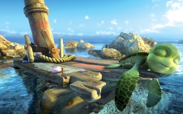 Movie A Turtle's Tale: Sammy's Adventures Sammy's Adventures Turtle Sea Water 3D Sleeping Green HD Wallpaper   Background Image