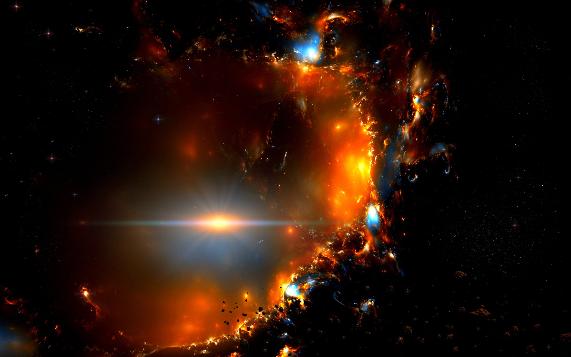 Sci Fi - Explosion  Space Wallpaper